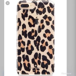 Authentic KS leopard print iPhone case